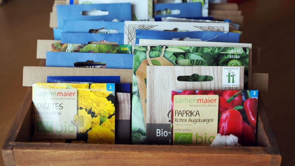 Sortierte Samen für Pflanzen